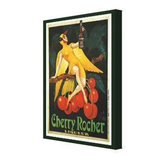 Vintage KirscheRocher Anzeige Leinwanddruck