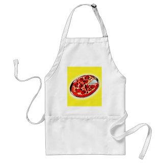 Vintage Kitsch-Pepperoni-Pizza-Torten-Illustration Schürze