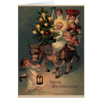 """Vintage Klappkarte """"Frohe Weihnachten"""" Karte"""