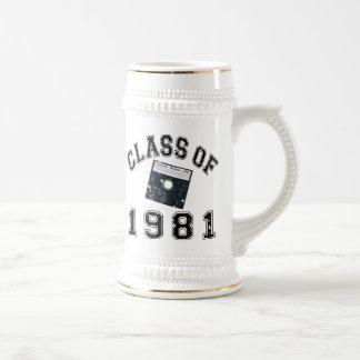 Vintage Klasse von Informatik 1981 Bierglas