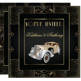 Vintage klassische Gatsby Art-Hochzeits-Einladung Karte