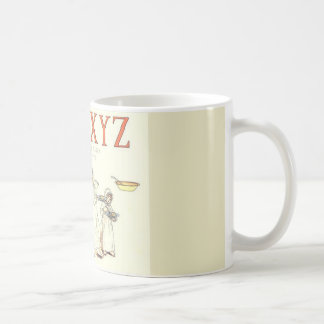 Vintage klassische Tasse des UVWXYZ