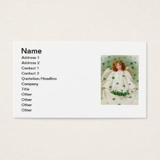 Vintage Kleeblatt-Engels-St Patrick Tageskarte Visitenkarten