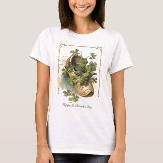 Vintage Kleeblatt-Klotz-St Patrick Tageskarte T-Shirt