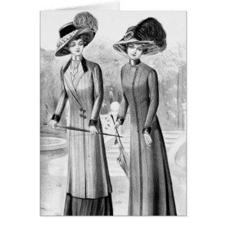 Vintage Kleider Karte