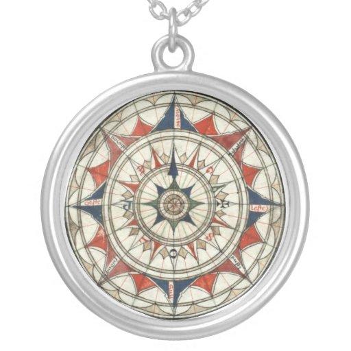 Vintage Kompass-Rose Personalisierte Halskette