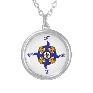Vintage Kompass-Rose Halskette
