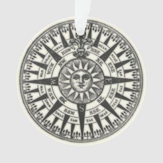 Vintage Kompass-Rose Sun