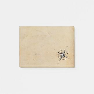Vintage Kompass-Rosen-Abenteuer-Erforschung Post-it Klebezettel