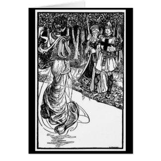 Vintage - König Arthur - Dame des Sees Karte