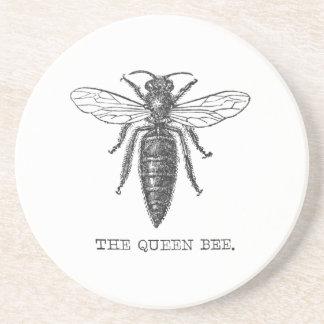 Vintage Königin-Bienen-Illustration Untersatz