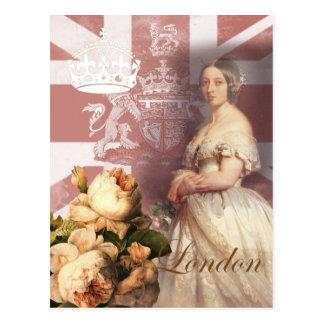 Vintage Königin Victoria London Postkarte