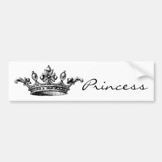 Vintage königliche Krone Autoaufkleber