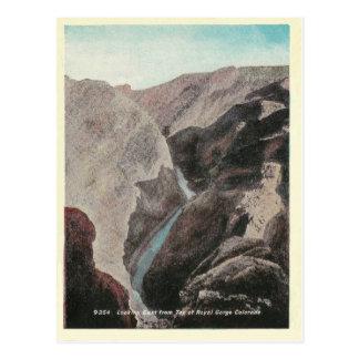 Vintage königliche Schlucht Colorados Postkarte