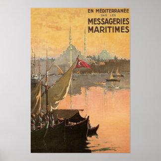 Vintage Konstantinopel-Reise-Anzeige Poster