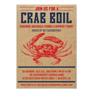 Vintage Krabben-Blutgeschwür-Party Einladungen