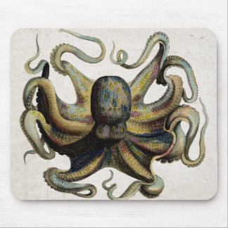 Vintage Kraken-Druck-Mausunterlage Mousepad