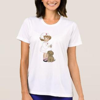 Vintage Krankenschwester mit Welpen-T - Shirts und