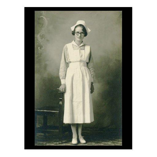 Vintage Krankenschwester-Postkarte