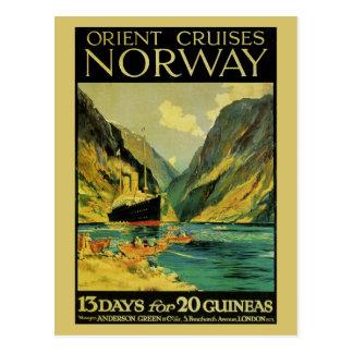 Vintage Kreuzfahrten Großbritannien Norwegen Postkarte