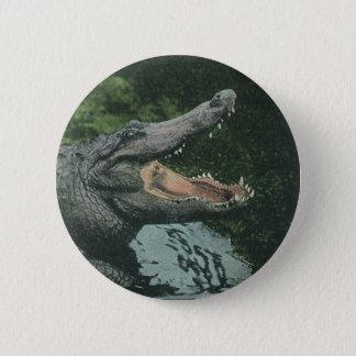 Vintage Krokodil-Reptilien, Marinetierleben Runder Button 5,1 Cm