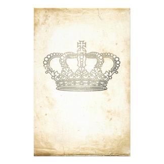 Vintage Krone Individuelle Druckpapiere