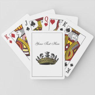 Vintage Krone mit Schach-Stück-Farbe Spielkarten