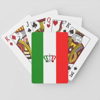 Vintage Kronen-moderne Italien-Italiener-Flagge Spielkarten