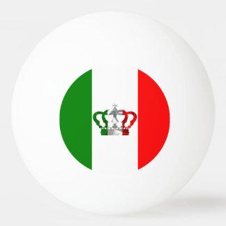 Vintage Kronen-moderne Italien-Italiener-Flagge Tischtennis Ball