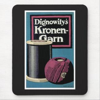 Vintage Kronengard Garn-Anzeige Mousepads