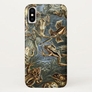 Vintage Kröten und FröscheBatrachia durch Ernst iPhone X Hülle