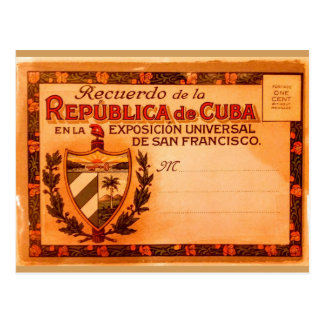 Vintage Kuba-Postkarte 1915 Postkarte