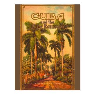 Vintage kubanische Reise - Kuba-Eisenbahn Postkarte