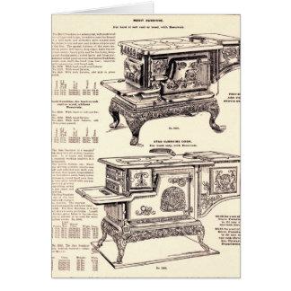 Vintage Küchen-Öfen Karte