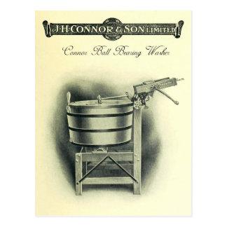 Vintage Kugellager-Kleidungs-Waschmaschine Postkarte