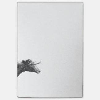 Vintage Kuh, die klebrige Anmerkungen ätzt Post-it Klebezettel