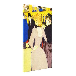 Vintage Kunst, am Nachtklub durch Toulouse Lautrec Leinwanddruck