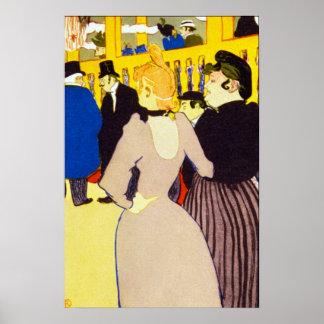 Vintage Kunst, am Nachtklub durch Toulouse Lautrec Poster