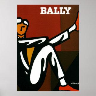 Vintage Kunst-Bally Schuhe Villemot Plakat-Druck