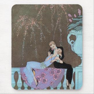 Vintage Kunst Deco Fireworks Le Feu, George Mousepad