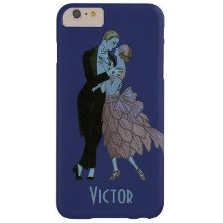 Vintage Kunst-Deko-Jungvermählten, Liebe-Wedding Barely There iPhone 6 Plus Hülle