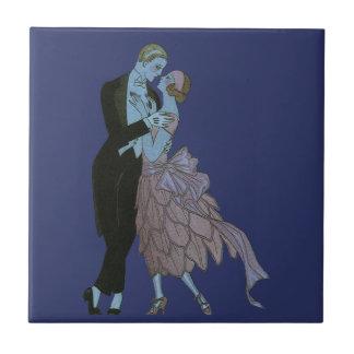 Vintage Kunst-Deko-Jungvermählten, Liebe-Wedding Keramikfliese