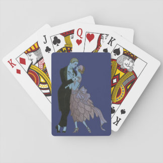 Vintage Kunst-Deko-Jungvermählten, Liebe-Wedding Spielkarten
