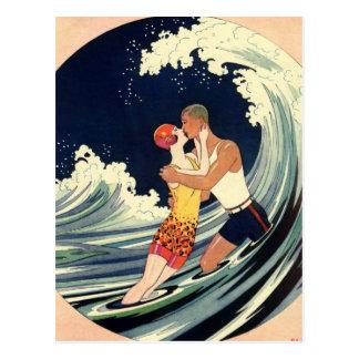 Vintage Kunst-Deko-Liebe-romantische Postkarten
