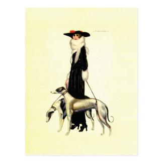 Vintage Kunst-Deko-Mode Postkarte
