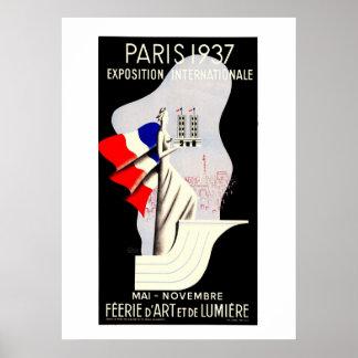 Vintage Kunst-Deko Paris-Weltausstellung 1937 53 x Poster