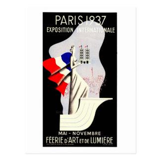 Vintage Kunst-Deko Paris-Weltausstellung 1937 Postkarten
