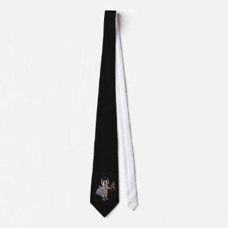 Vintage Kunst-Deko-Partygoers-Feier Bedruckte Krawatte