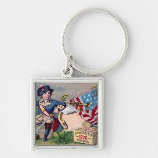 Vintage Kunst der revolutionären patriotischen Schlüsselanhänger