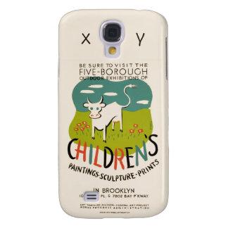 Vintage Kunst-Gewohnheits-Hüllen der Kinder Galaxy S4 Hülle